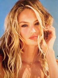 candice swanepoel beach waves and natural beach makeup victoria s secret