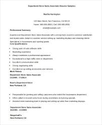 Sales Associate Resume 7 Free Sample Example Format Free