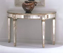 half circle entry table console w mirrored accents throughout semi design 3