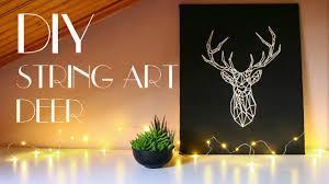 Diy String Art Diy String Art Deer Wall Art Youtube