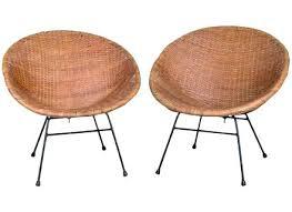 U Mid Century Rattan Chair Modern