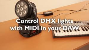midi dmx interface control your dmx lights in your daw ableton live reason