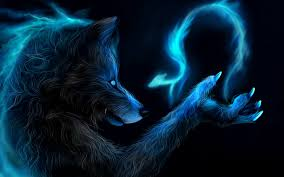 blue wolf background. Plain Wolf Dark Fantasy Werewolf Wolf Wolves Lycan Magic Dragon Blue Art Wallpaper   1920x1200 28219 WallpaperUP Throughout Blue Wolf Background W