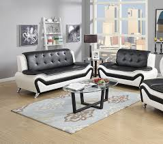 modern black furniture. amazoncom us pride furniture 2 piece modern bonded leather sofa set with and loveseat whiteblack kitchen u0026 dining black s