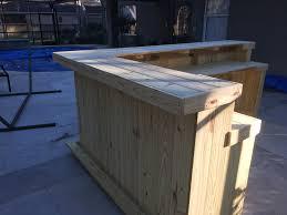 patio bar wood. The Kitchen - 10\u0027 X 6\u0027 2 Level L Shaped Rustic Wood Handmade Outdoor Patio Bar O