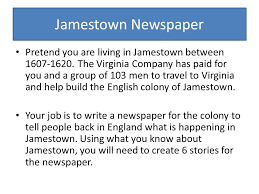 Warm UP Jamestown- The first permanent English settlement in North ...