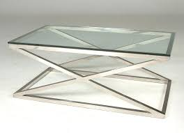 round glass coffee table with chrome legs creative