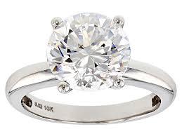 white zirconia from swarovski 10k white gold solitaire ring 4 81ctw lxb013a jtv com