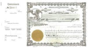 Corporate Stock Certificate Template Atlasapp Co