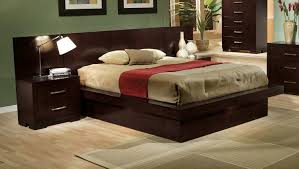 Pier Wall Bedroom Furniture Coaster Jessica King Pier Platform Bed With Rail Seating And