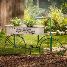 l metal antique garden bicycle planter