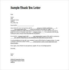 Sample Of A Thank You Letter 10 Thank You Letter Samples Writing Letters Formats