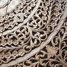 hand carved wood queen bed headboard thai decorative lotus wall paneling teak carving wall art panel  on teak wall art panels with buy antique wooden bed panel wall art hanging online