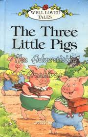 book cover the three little pigs 1980s
