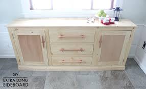extra long sideboard. Delighful Long Diy Extra Long Sideboard With Drawers Free Plans With Extra Long Sideboard X
