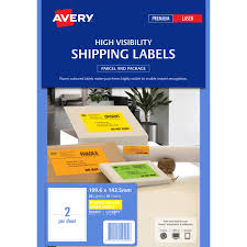 avery 6 up label template avery 959405 l7168fy high visibility shipping label laser 2 up