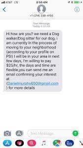 recent scam e mails received