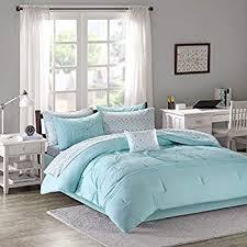 Bed sheets for teenage girls Queen Comforter Sets For Teen Girls Twin Full Queen Kids Bedding Aqua Light Blue Gray Bed In Amazoncom Amazoncom Comforter Sets For Teen Girls Twin Full Queen Kids