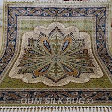 QUM SILK RUG 8x10ft area rug amazing pure silk large pers https