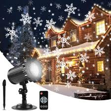 Outdoor Led Christmas Projection Lights Aloveco Christmas Snowflake Projector Lights Upgrade Rotating Led Snowfall Projection Lamp With Remote Control Outdoor Waterproof Sparkling