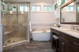 wood floor tiles bathroom. Charloote Bathroom Wood Look Tile Floor And Tub Tiles A
