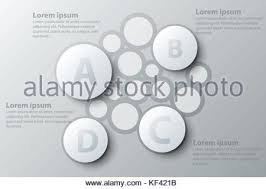 four topics simple white circle d paper for website presentation four topics simple white circle 3d paper for website presentation cover poster vector design infographic illustration