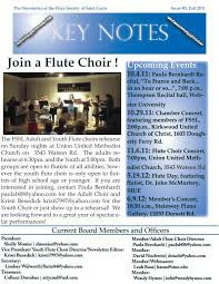 Newsletter Summer-Fall 2011 - Flute Society of Saint Louis