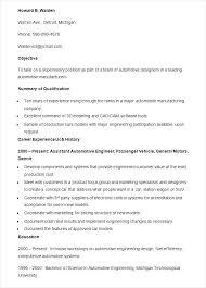 Automotive Resume Template Automotive Resume Template Automotive
