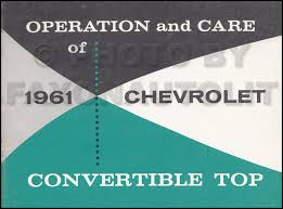 1961 chevy wiring diagram manual reprint impala ss biscayne bel air 1961 chevrolet impala convertible top owner s manual original