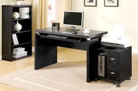 black home office. Black Wood Computer Desk Home Office