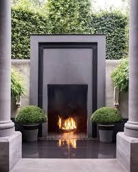 modern outdoor fireplace design ideas