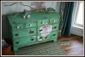 The Turquoise Iris Furniture & Art Mint Green Distressed Dresser