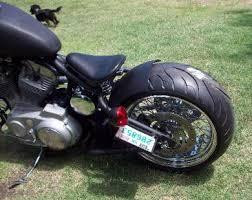evo sportster chopper bobber hardtail rigid frame black wide tire