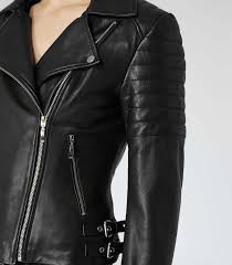 Lyst - Reiss Topaz Quilted Leather Biker Jacket in Black & Gallery Adamdwight.com