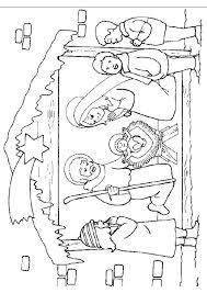 Kleurplaat Kerst Kleurplaten De Kerststal Met Daarin Jesus In De