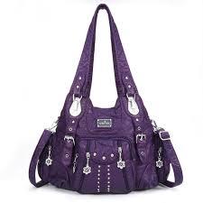 hot designer angel kiss women hardware multi pockets durable soft leather shoulder bag newchic