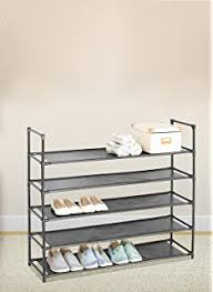 Home Basics 10 Tier Coated Non Woven Shoe Rack Amazon Home Basics FreeStanding Shoe Rack 100Tier Home Kitchen 32