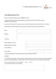 Club Membership Form Template Church Membership Form Template Word Awesome Organizational Chart