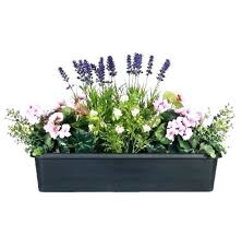 artificial flowers outdoor hanging baskets faux plants ivy window box planter display large fake for boxes faux outdoor