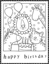 I just wanted clean and simple with bright colors. Color Pages From We Love To Illustrate For Children Love The Blog Birthday Coloring Pages Happy Birthday Coloring Pages Happy Birthday Printable