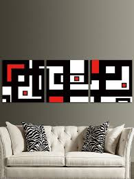 a maze map printed split canvas wall art paintings black white red 3pc on wall art black white and red with 2018 a maze map printed split canvas wall art paintings black white