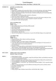 Cad Operator Resume Samples Velvet Jobs
