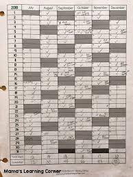 Printable Attendance Calendar 2020 Simple Homeschool Attendance Record 2019 2020 Mamas