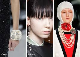 fall winter 2017 2018 jewelry trends pearls