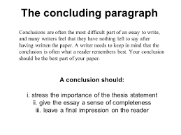 Writing Your Concluding Paragraph The What Is Conclusion In