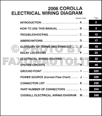 toyota corolla wiring diagram manual original