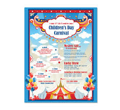 Free Carnival Poster Template Kids Carnival Day Flyer Template