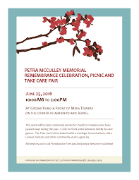 home posada of pueblo petra mcculley memorial remembrance celebration picnic and take care fair