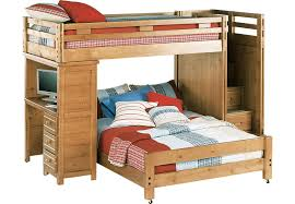 Creekside Taffy Twin Full Step Bunk Bed with Desk - Bunk/Loft Beds Light  Wood