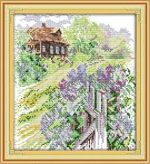 <b>Everlasting love</b> Country path Chinese cross stitch kits Ecological ...